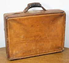 Vintage HARTMAN LUGGAGE Leather Briefcase Attaché Case. Great Patina!