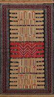 4x6 ft Nomad Oriental Geometric Kilim Wool Area Rug Hand-Woven Kitchen Carpet