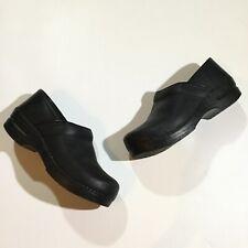 Dansko Womens Size 41 10.5 11 Professional Nursing Clog Shoes In Oiled Black