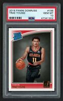 2018 PANINI DONRUSS TRAE YOUNG #198 RATED ROOKIE ATLANTA HAWKS PSA 10 GEM MINT