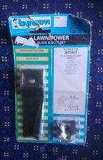 """BYNORM LAWNMOWER BLADE & BOLT SET NEW NEVER USED FOR JETFAST 18""""  100-67P"""