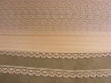 Flat White/Silver Lace  - 20 metres