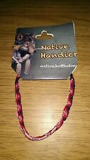 Native Handicraft Rope Bracelet - Purple, Red and Pink