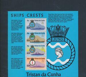XC89267 Tristan da Cunha ships naval crests coat of arms XXL sheet MNH