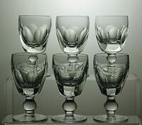 """WATERFORD CRYSTAL""""KATHLEEN / SHEILA"""" CUT PORT WINE GLASSES SET OF 6 - 4""""TALL"""