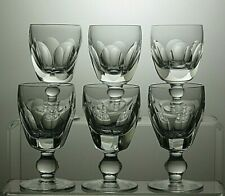 "WATERFORD CRYSTAL""KATHLEEN / SHEILA"" CUT PORT WINE GLASSES SET OF 6 - 4""TALL"