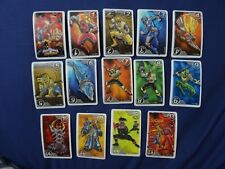 power rangers ninja storm cards playing cards lot of 14 cards from israel tm&BVS