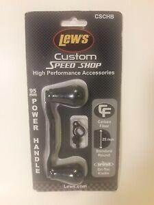 New Lew's Custom Speed Shop 95mm Carbon Fiber Power Handle CSCHB Black