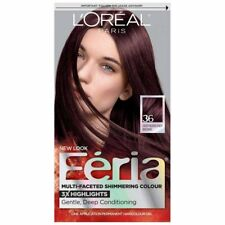 L'Oreal Feria Multi-Faceted Shimmering Colour, Warmer, 36 Deep Burgundy...