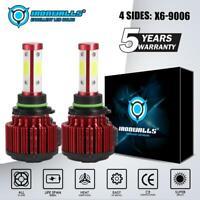 4-Sides 9006 HB4 LED Headlight Conversion Kits 2500W 375000LM 6000K Lamps Bulbs