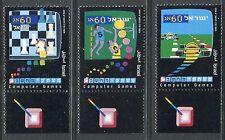 ISRAEL 1990 COMPUTER GAMES/TECHNOLOGIES/BASKETBALL/CHESS/AUTORACING MNH