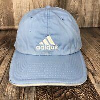 Adidas Hat Cap Light Blue White Strap Back Adjustable One Size Fits Most OSFM