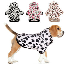 Fleece Dog Pajamas for Small to Large Dogs Winter Clothes Warm Jacket Pet Coat