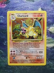Charizard pokemon card. Rare Holo 4/102. Base Set 1999. WOTC. Nintendo.