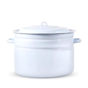 Behälter mit Deckel - Komfort, emailliert, 25 L, Suppe, Einkochtopf Topf