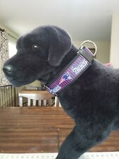 "Omies 2"" Wide Heavyduty Themed ""Patriots"" Football Dog Collar 16""-26"" USA MADE"