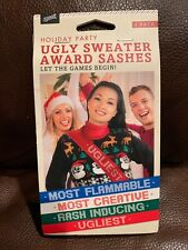 Nwt Holiday Party Ugly Sweater Award Sashes Banners Awards - 4 Pack