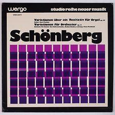 SCHONBERG: Variations Orchestra WERGO New Music Avant Garde LP WER 60013 NM