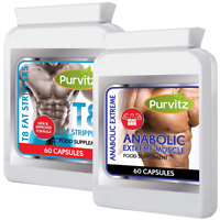 T8 STRONG FAT BURNERS + ANABOLIC WEIGHT GAIN PILLS INCREASE SIZE