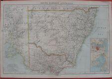 1905 Large Antique Map - SOUTH EASTERN AUSTRALIA - Sydney & Melbourne - G.Philip