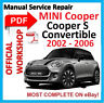 #OFFICIAL WORKSHOP MANUAL service repair FOR MINI COOPER S CONVERTIBLE 2002-2006