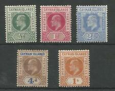 CAYMAN ISLANDS SG3-7 THE 1902 EVII SET OF 5 MOUNTED MINT CAT £100