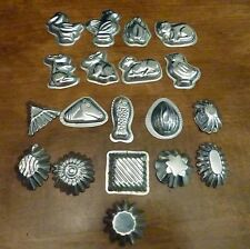 Vintage Chocolate Candy Molds Tiny Metal Small Mini Animals, Shapes - 19