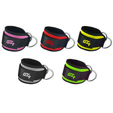 Ankle Straps Weight Lifting Fitness D Ring Cable Attachment Strap Gym Exercise