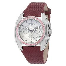 NEW Breil Milano BW0511 Womens Mediterraneo Analog Chrono Silver Dial Watch 100m