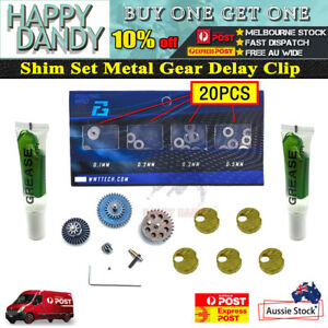 Upgrade 20pcs Shim Set Metal Gear Sector Delay Chip Gen8 J9 J10 M4A1 Gel Blaster