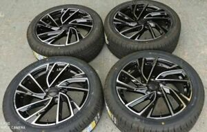 "17"" VW Golf GTI Adelaide Style Black Wheels+tyres fits VW Golf MK5 MK6 MK7 MK8 ("