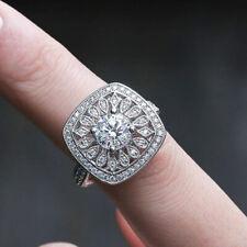 Cubic Zirconia Wedding Ring Size 8 Fashion 925 Silver Women Rings Round Cut