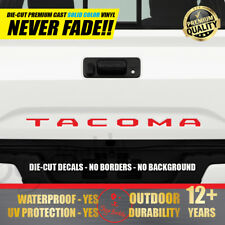 NEW TOYOTA TACOMA RED Vinyl Decal Tailgate Letters Insert Sticker 2016 2017 2018