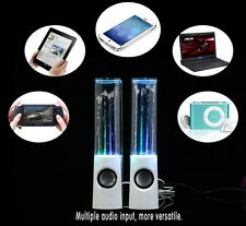 New White Led Dancing Water Speakers For Iphones, Ipads, Playstation,TV, Laptops