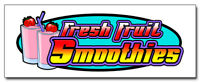 """24"""" SMOOTHIES DECAL sticker fresh fruit smoothie cart stand supplies"""