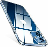 For iPhone 12 11 Pro Max/12 mini SE Transparent Crystal Silicone Soft Case Cover