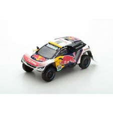 Spark 1/43 modelo Peugeot 3008 coronas danesas red Bull Peterhansel Winner Rally