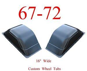 "67 72 Chevy Custom Wide Wheel Tubs 16"" Set Of 2, 0849-326, 16 3/4"" Wide GMC"
