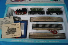 Marklin 2943 Starter Set 60-ies Steamer + 2 Personnel Coaches Tin Plate OVP