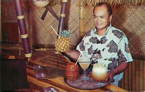 Vintage Postcard Mai-Kai Polynesian Restaurant Bar Tiki Rum Drinks Ft.Lauderdale