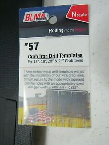 BLMA / Atlas N Scale Brass Grab Iron Template #57  Bob The Train Guy