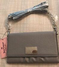 NWT JUICY COUTURE Crossbody Wallet Bag Sleet Gray Ec Kalida Wos NEW