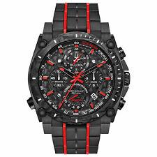 Men's Bulova 98B313 Quartz Precisionist Chronograph Red Accents 46.5mm Watch