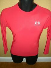 Under Armour Heat Gear Long Sleeve Compression Base Layer Shirt Red Men's M