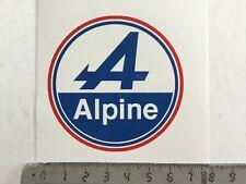Sticker / Aufkleber, Renault Alpine Logo, rund