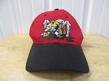 VINTAGE MINOR LEAGUE BASEBALL BATAVIA MUCKDOGS SEWN LOGO RED CAP PRE OWNED
