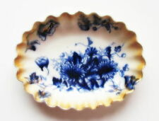 Chatswort, Ashworth, Oval, Floral, Flow Blue Bowl