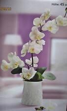 Kunst Orchidee im Keramiktopf Kunstblume 45 cm hoch Orchideen * NEU *