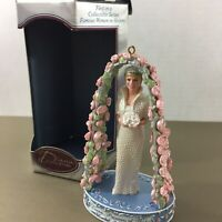 Princess Diana vtg Christmas ornament bride wedding roses Carlton Cards with box