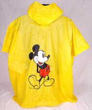 Vintage Disney Rain Poncho Mickey Mouse Child Childrens Yellow Rain PVC